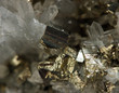 Crystal,nugget, gold, bronze, copper, iron. Macro. - 65621377