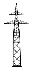 Power transmission tower. Industrial construction.