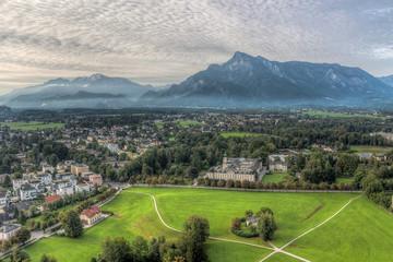 view of the historic city of Salzburg, Salzburger Land, Austria