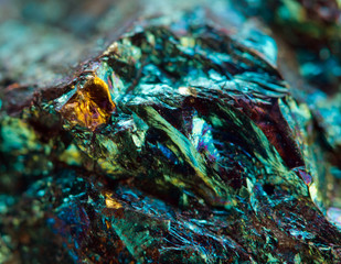 Abstract background, gold, bronze, copper, iron. Macro.