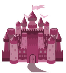 Fairy Tale magic castle, vector illustration