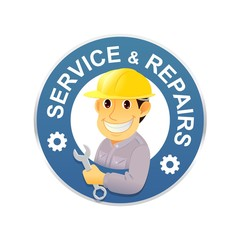 Repair symbol,service icon vector