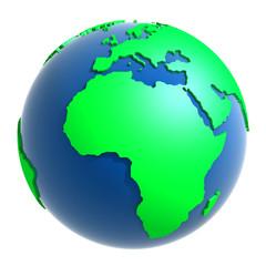 Globus - Europa und Afrika