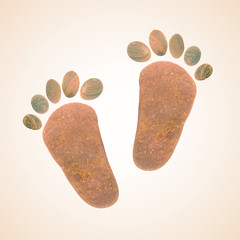 Foot stones old vintage retro style