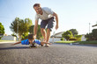 father son skateboard - 65623301