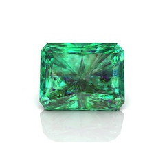 green Emerald cutting