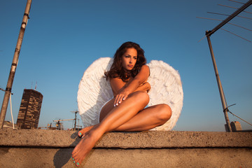 angel on roof