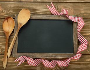 Writing board and spoon
