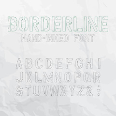 Borderline Hand-Inked Outlined Font