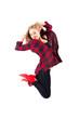 junges springendes Mädchen