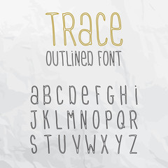 Trace Outlined Font
