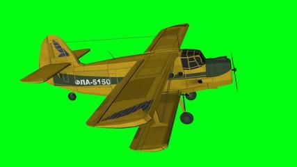 Modellflugzeug Flugzeug greenscreen Propeller