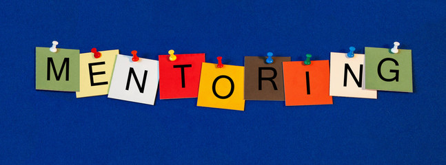 Mentoring, sign series for business terms, coaching, consulting.