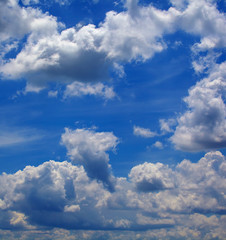 Amazing blue sky background with a tiny clouds