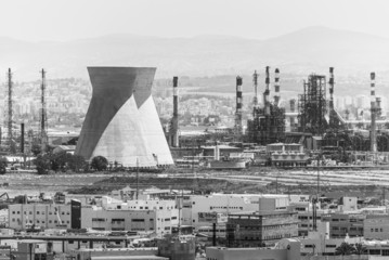Haifa industrial area B&W
