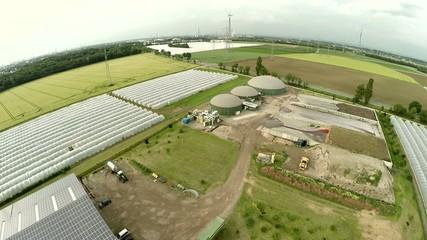 Biogasanlage - Luftaufnahme