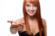 Портрет девушки с рыжими волосами