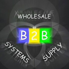 B2B On Blackboard Displays Online Business Or Transactions