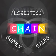 Sales and Supply Displays Chain of Logistics