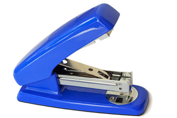 Stapler for papers of bright blue color