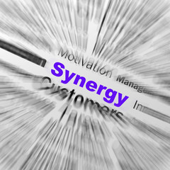 Synergy Sphere Definition Displays Team Work And Cooperation