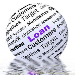 Loan Sphere Definition Displays Bank Credit Or Funding