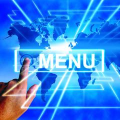 Menu Map Displays International Choosing and Options