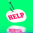 Help On Hook Displays Customer Support Or Assistance