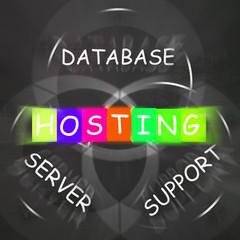 Internet Words Displays Hosting Database Server and Support