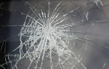 Broken glass in car