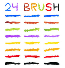 set of 24 brushes of different colors