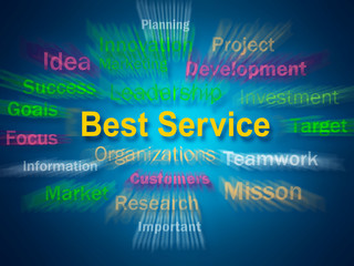 Best Service Brainstorm Displays Steps For Delivery Of Services