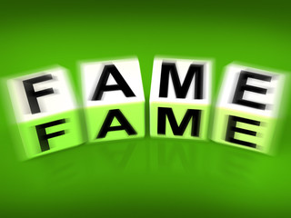Fame Displays Famous Renowned or Notable Celebrity