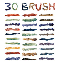set 30 dirty brushes Color