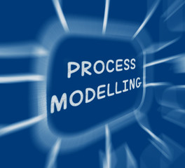 Process Modelling Diagram Displays Representing Business Process