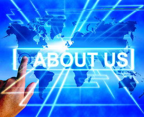About Us Map Displays Website Information of an International Se
