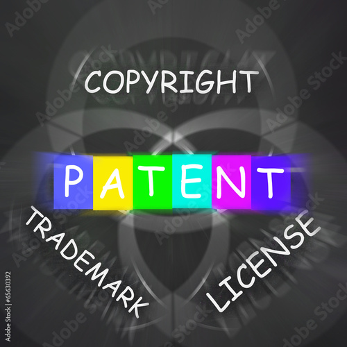 Patent Copyright License and Trademark Displays Intellectual Pro
