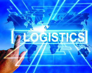 Logistics Map Displays Logistical Coordination and International