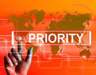 Priority Map Displays Superiority or Preference in Importance Wo