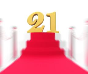 Golden Twenty One On Red Carpet Displays Entertainment Business