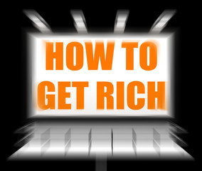 How To Get Rich Sign Displays Self help and Financial Advice