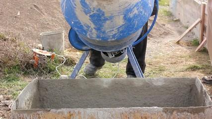 cement mixer or concrete mixer