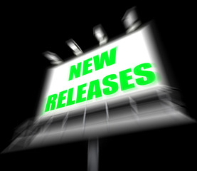 New Releases Sign Displays Now Available or Current Product