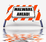 Malware Ahead Displays Malicious Danger for Computer Future poster