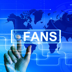 Fans Map Displays Worldwide or Internet Followers or Admirers