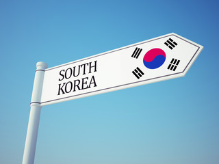 South Korea Flag Sign