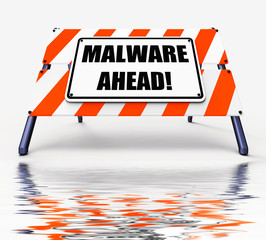 Malware Ahead Displays Malicious Danger for Computer Future