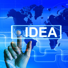 Idea Map Displays Worldwide Concept Thought or Ideas