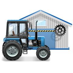 Vector Tractor Repair Concept