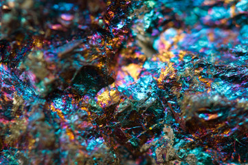Abstract background from a natural metal stone. Macro
